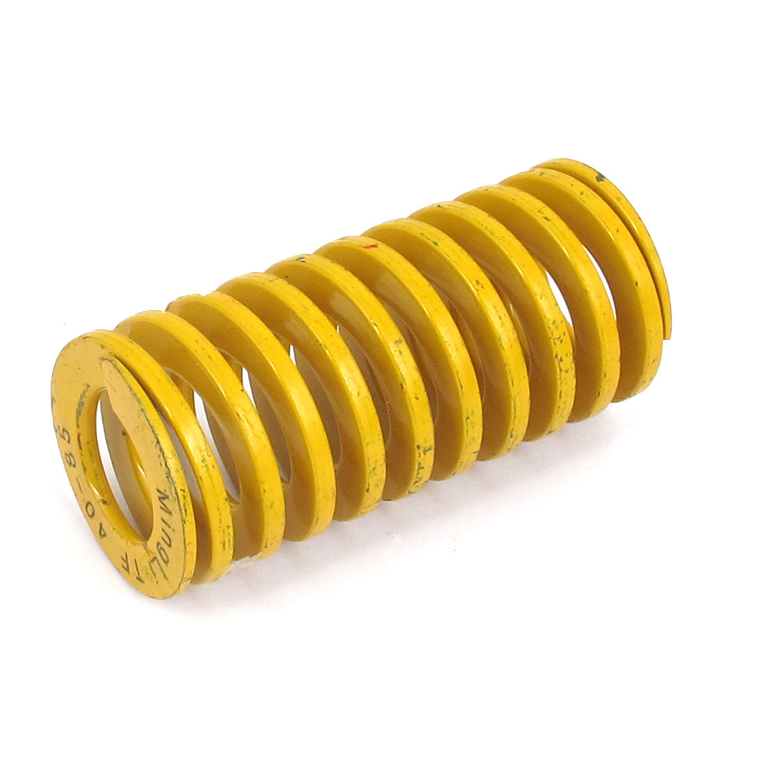 40mm OD 85mm Long Lightest Load Spiral Stamping Compression Die Spring Yellow