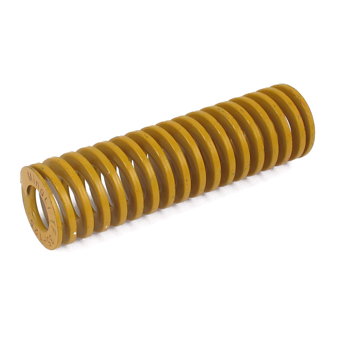 35mm OD 125mm Long Lightest Load Spiral Stamping Compression Die Spring Yellow