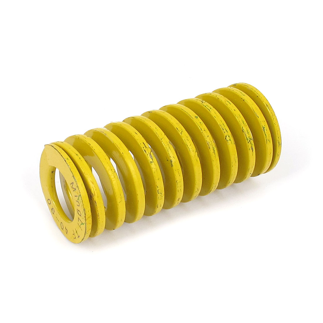 40mm OD 90mm Long Lightest Load Spiral Stamping Compression Die Spring Yellow