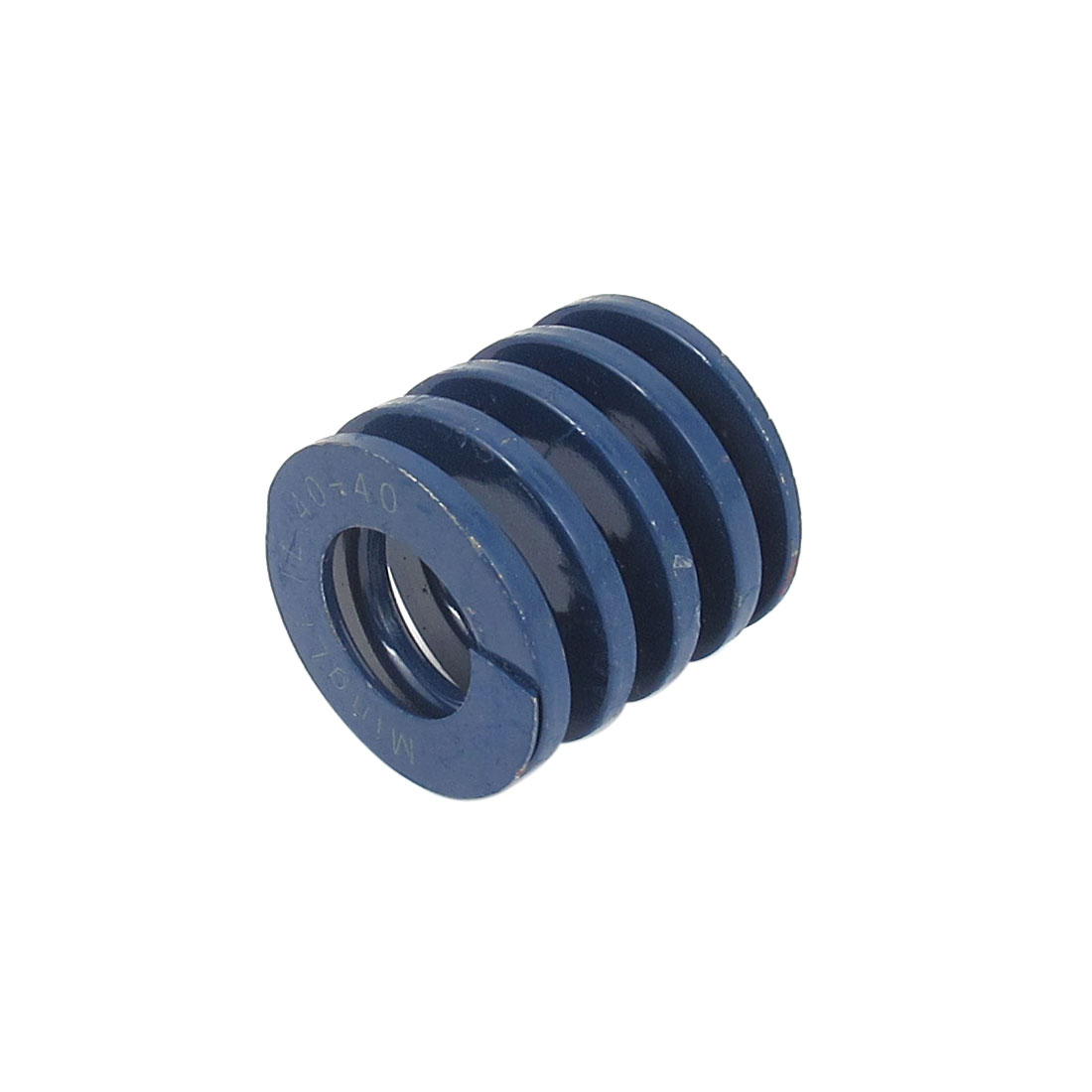 40mm OD 40mm Long Light Load Spiral Stamping Compression Die Spring Blue