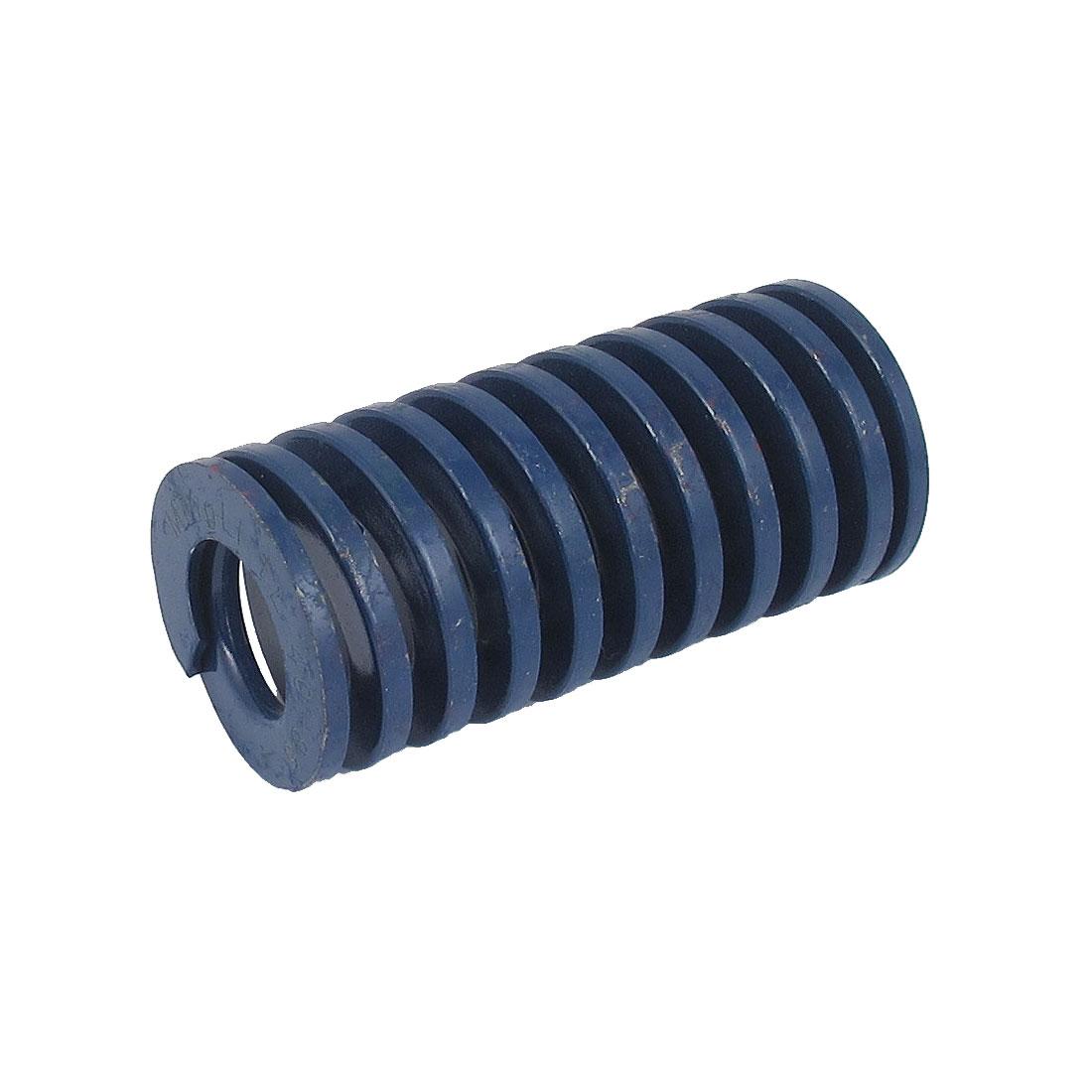 40mm OD 85mm Long Light Load Spiral Stamping Compression Die Spring Blue