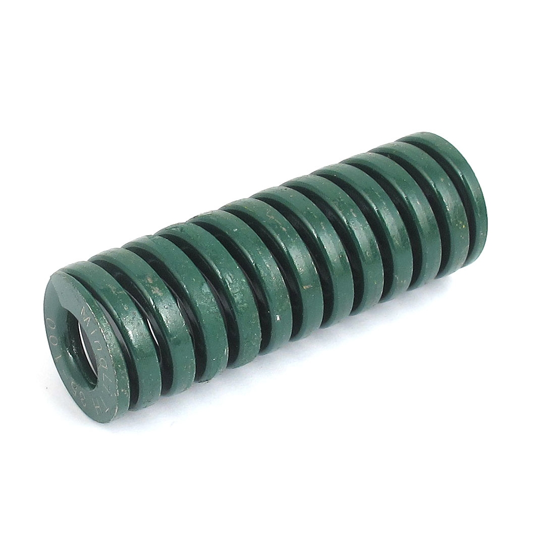 35mm OD 100mm Long Heavy Load Spiral Stamping Compression Die Spring Green