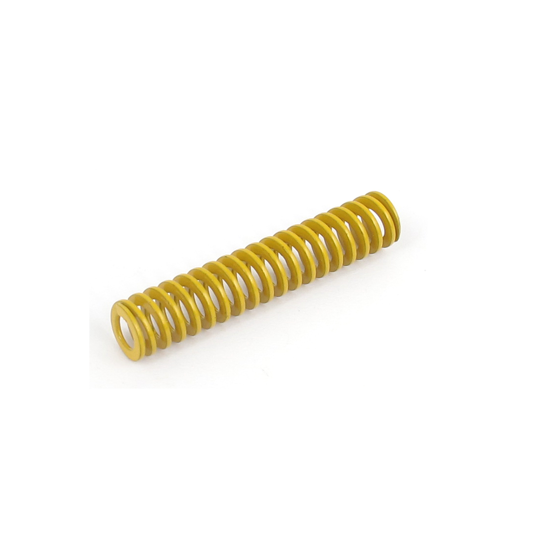8mm OD 40mm Long Lightest Load Spiral Stamping Compression Die Spring Yellow