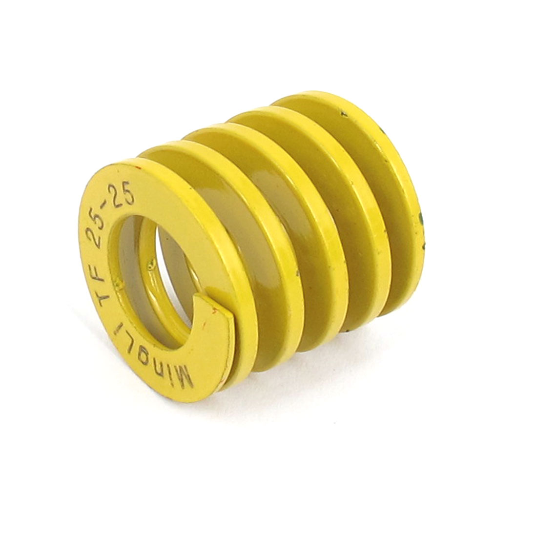 25mm OD 25mm Long Lightest Load Spiral Stamping Compression Die Spring Yellow
