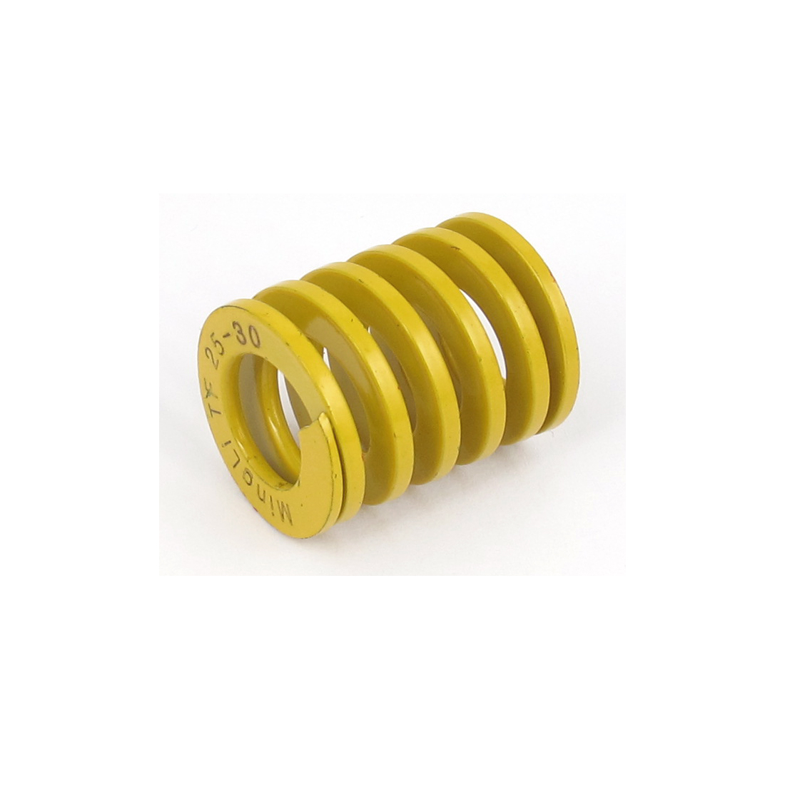 25mm OD 30mm Long Lightest Load Spiral Stamping Compression Die Spring Yellow