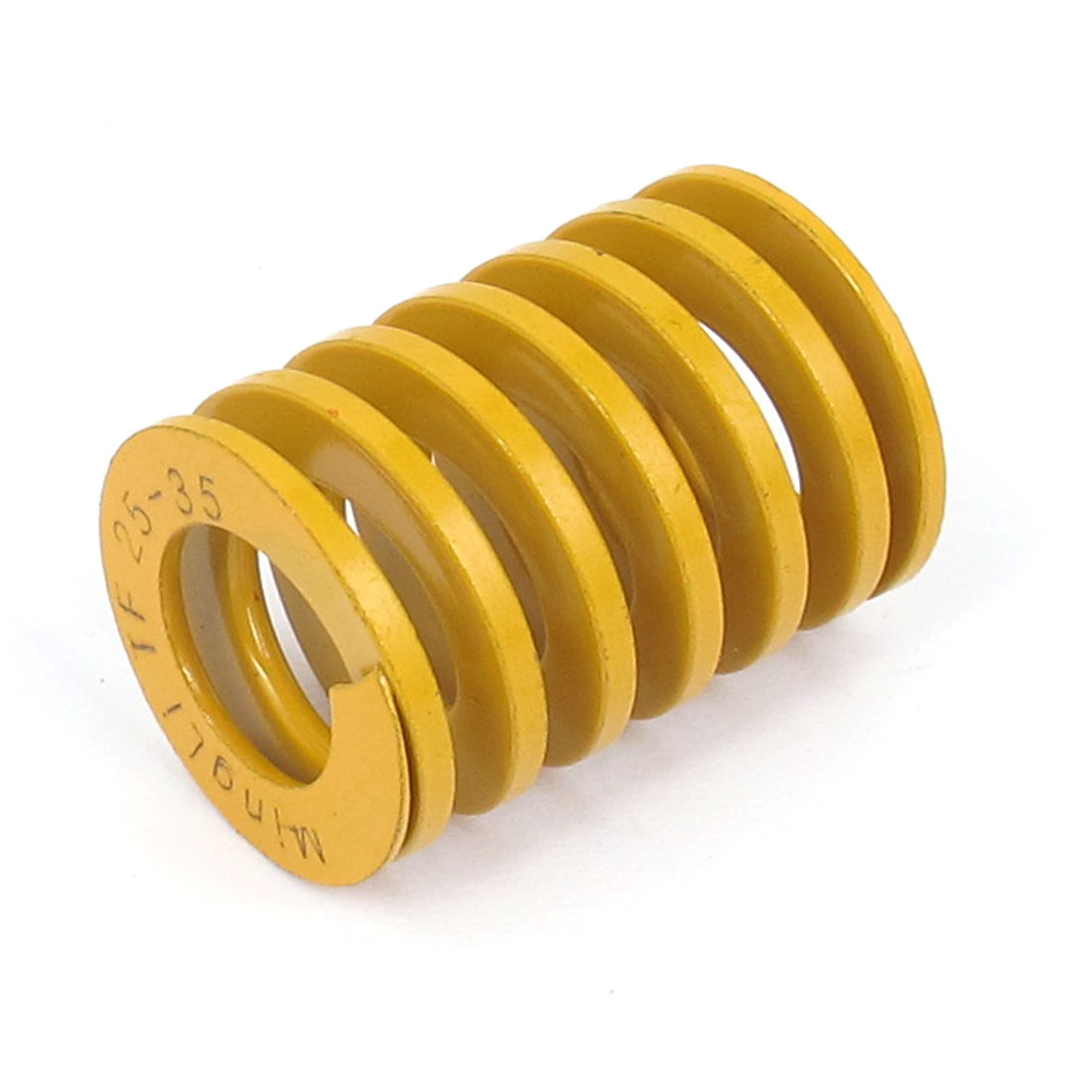 25mm OD 35mm Long Lightest Load Spiral Stamping Compression Die Spring Yellow