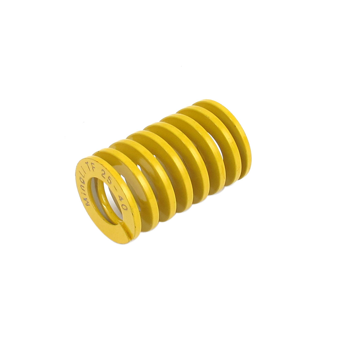 25mm OD 40mm Long Lightest Load Spiral Stamping Compression Die Spring Yellow