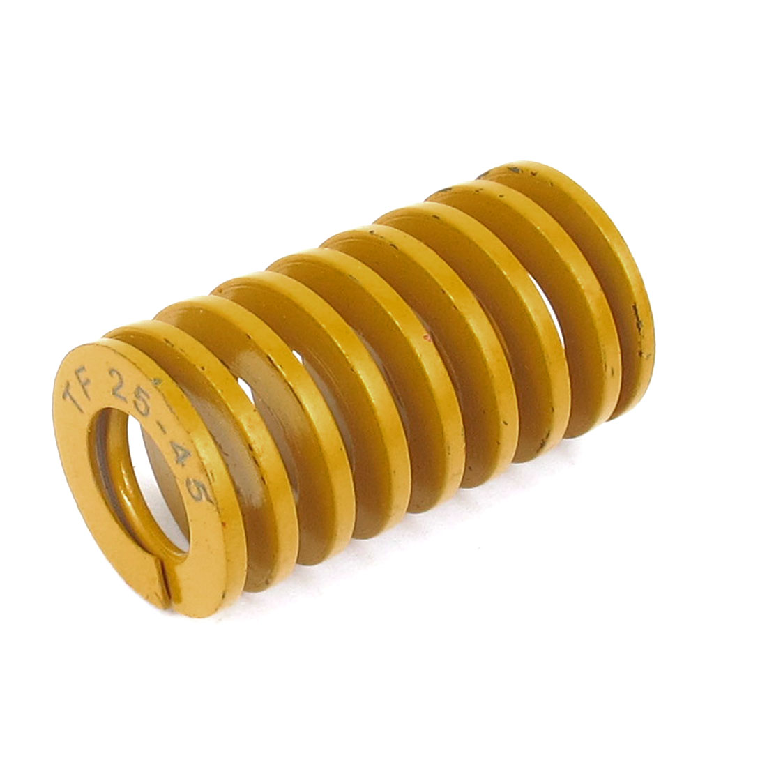 25mm OD 45mm Long Lightest Load Spiral Stamping Compression Die Spring Yellow