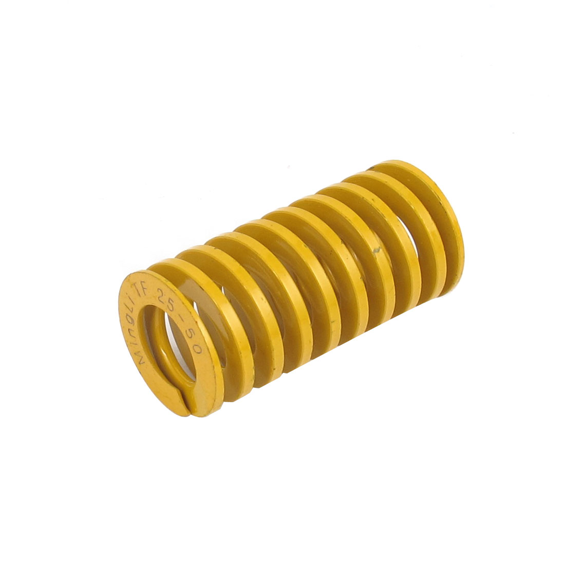 25mm OD 50mm Long Lightest Load Spiral Stamping Compression Die Spring Yellow