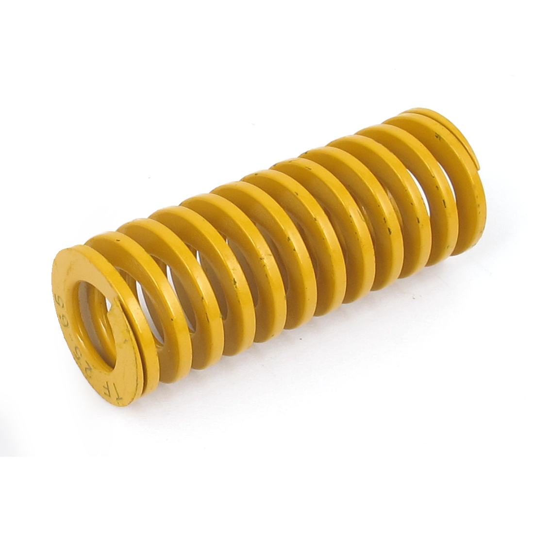 25mm OD 65mm Long Lightest Load Spiral Stamping Compression Die Spring Yellow
