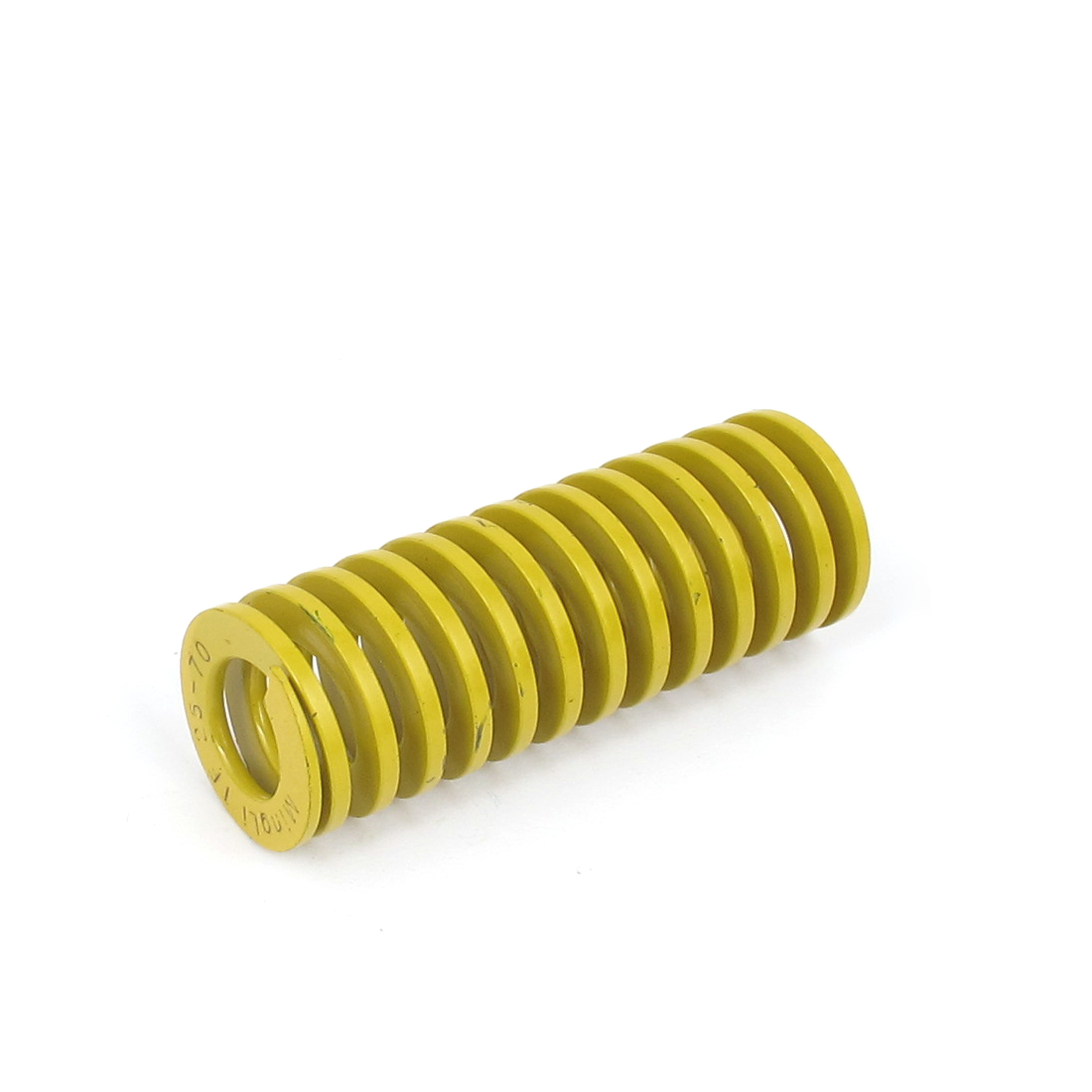 25mm OD 70mm Long Lightest Load Spiral Stamping Compression Die Spring Yellow