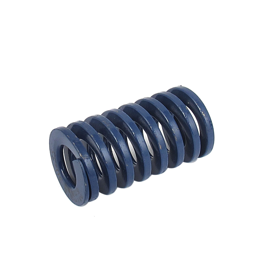 30mm OD 55mm Long Light Load Spiral Stamping Compression Die Spring Blue