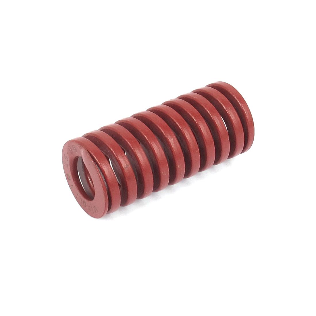 25mm OD 55mm Long Medium Load Spiral Stamping Compression Die Spring Red