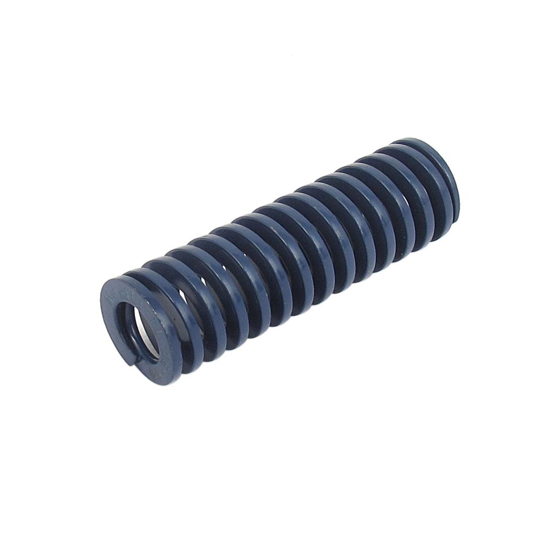 16mm OD 50mm Long Light Load Spiral Stamping Compression Die Spring Blue