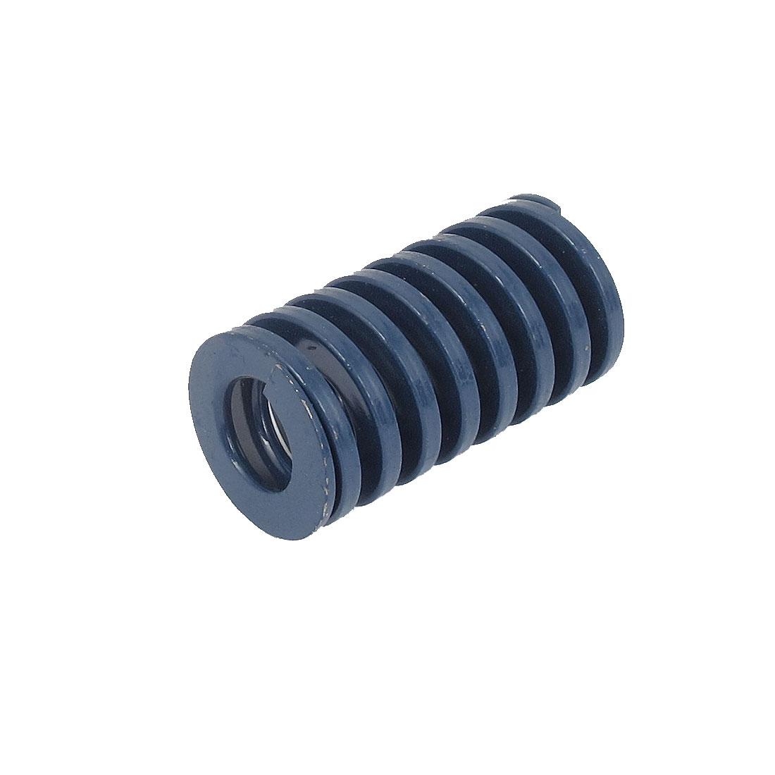 22mm OD 40mm Long Light Load Spiral Stamping Compression Die Spring Blue