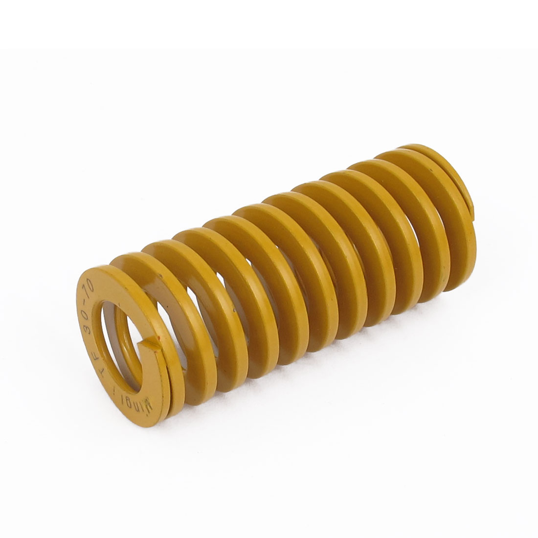 30mm OD 70mm Long Lightest Load Spiral Stamping Compression Die Spring Yellow
