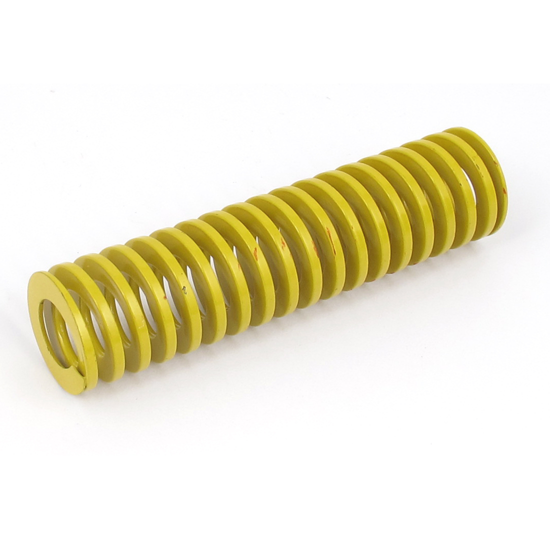 25mm OD 100mm Long Lightest Load Spiral Stamping Compression Die Spring Yellow