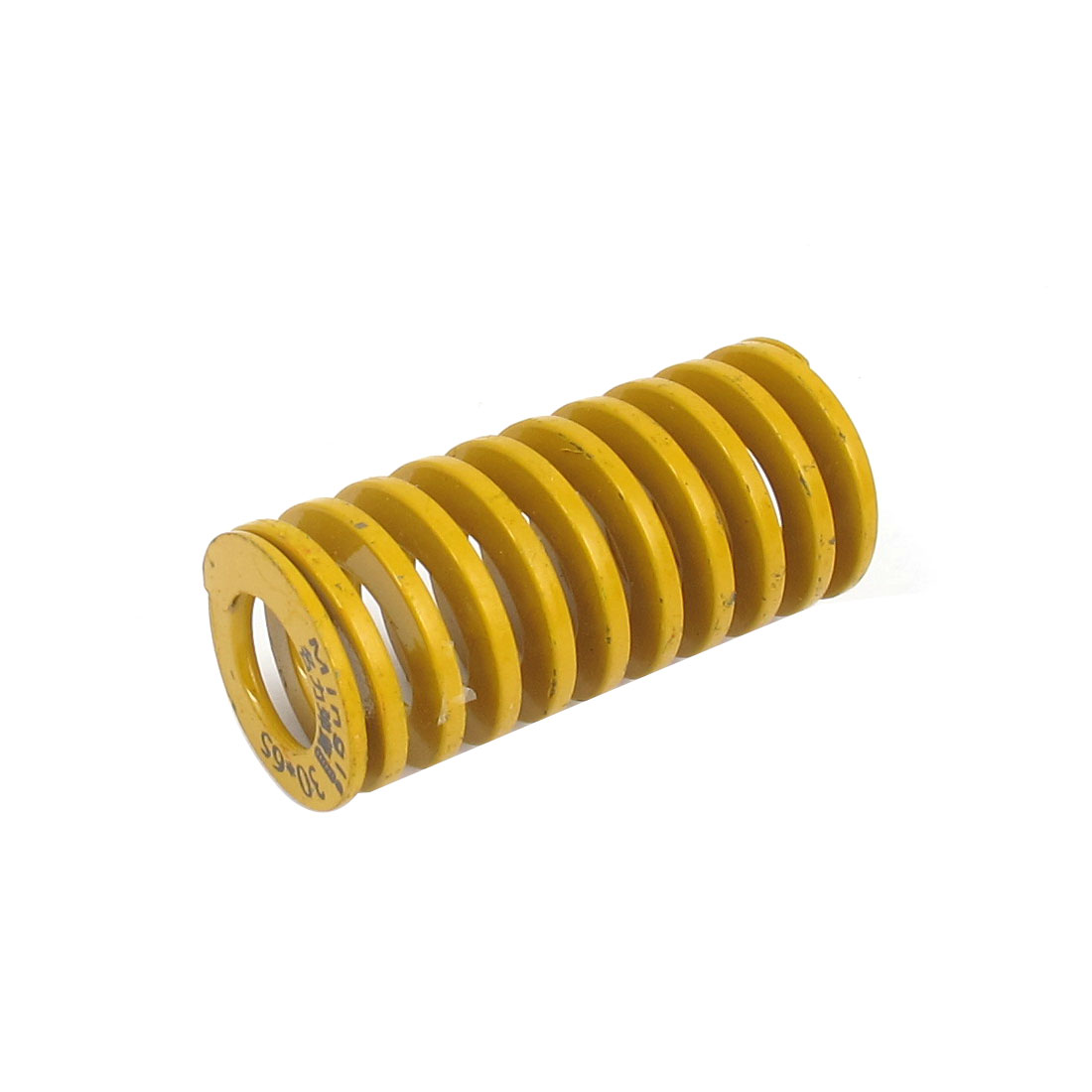 30mm OD 65mm Long Lightest Load Spiral Stamping Compression Die Spring Yellow