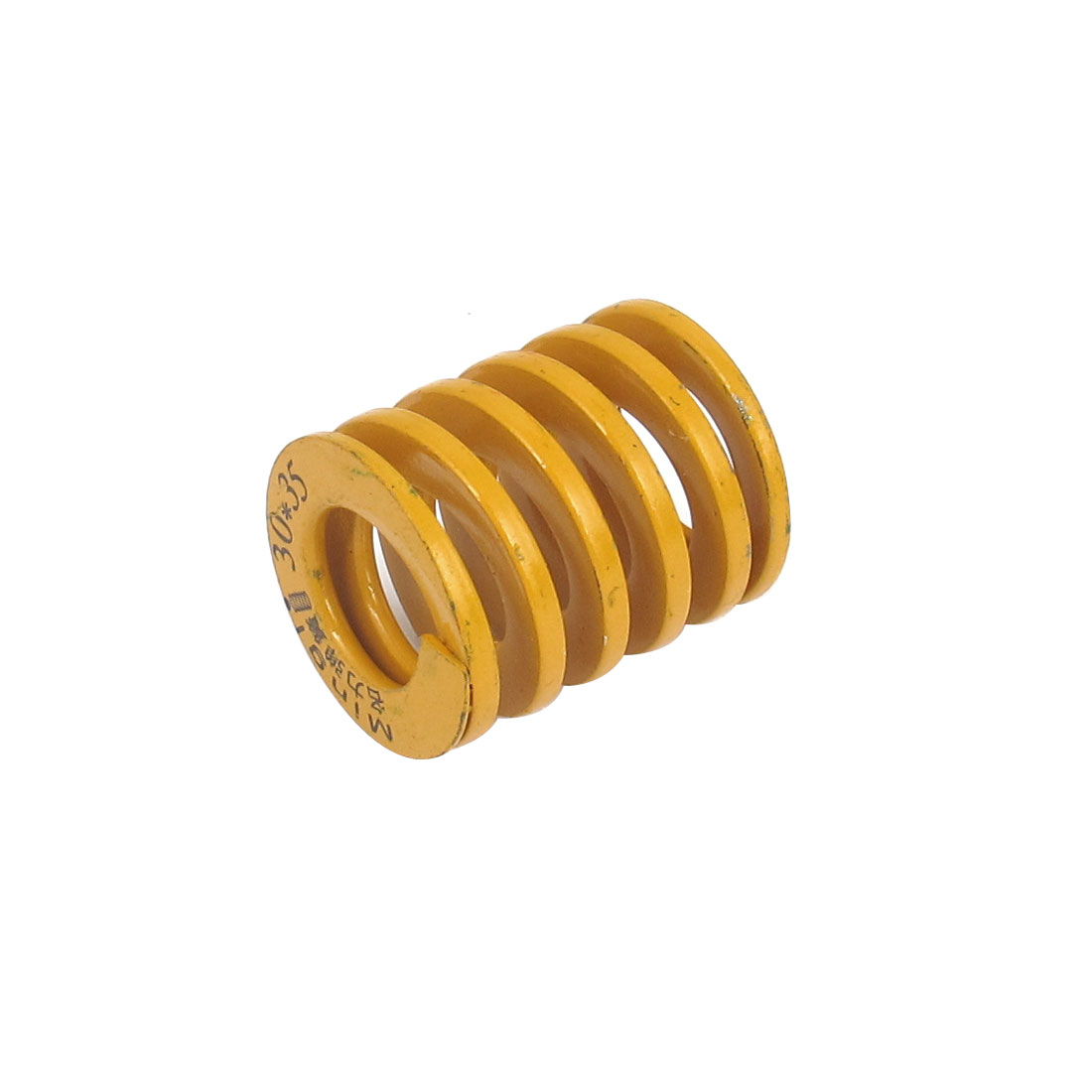 30mm OD 35mm Long Lightest Load Spiral Stamping Compression Die Spring Yellow