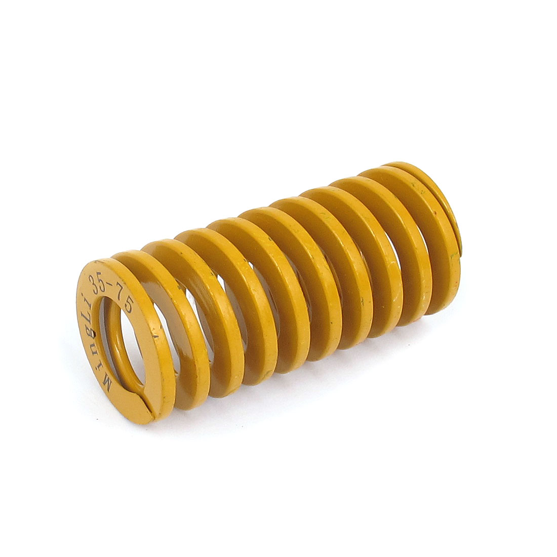 35mm OD 75mm Long Lightest Load Spiral Stamping Compression Die Spring Yellow