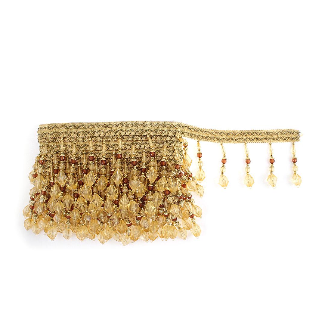 Drapery Curtain DIY Beads Tassel Fringe Trim 6.5M Length