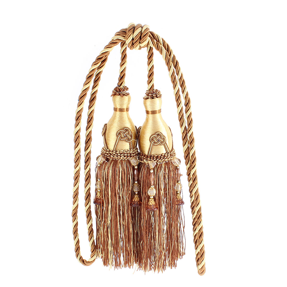 Home Curtain Beads Tassel Tiebacks 2Pcs