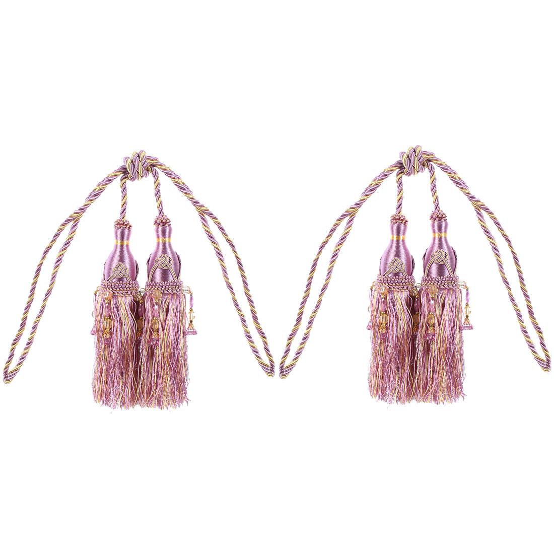 Curtain Drapery Hanging Beads Tassel Tiebacks 2Pcs