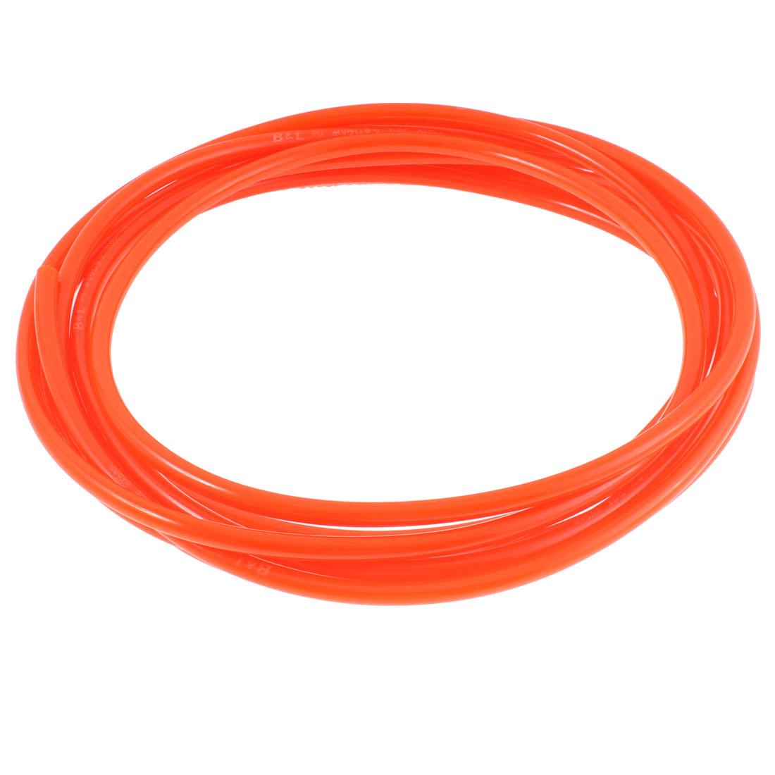 8mm OD 5mm Inner Dia PU Pneumatic Air Tubing Pipe Hose 6M Length Orange Red