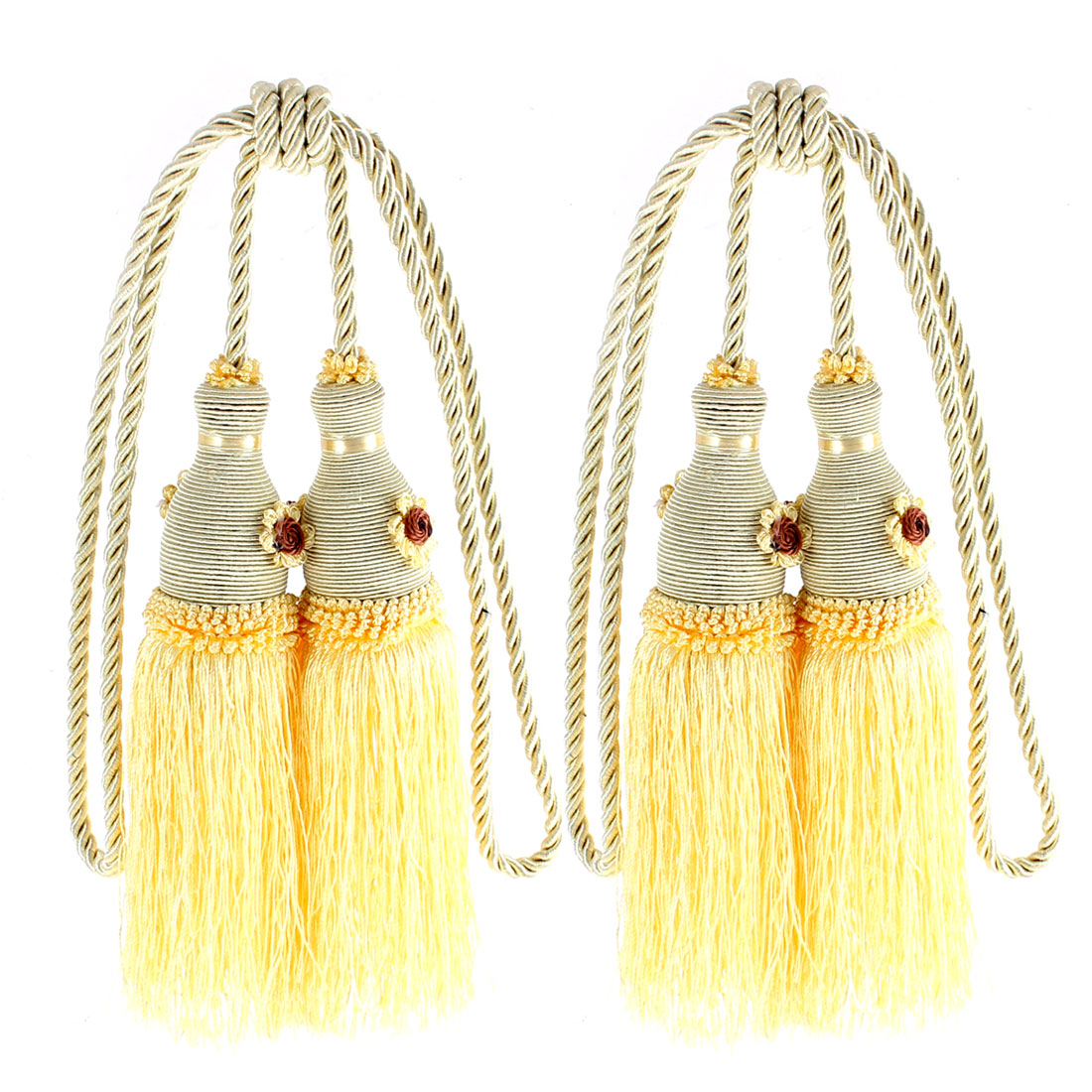 Curtain Window Double Tassel Tieback Hanging Cord 2Pcs