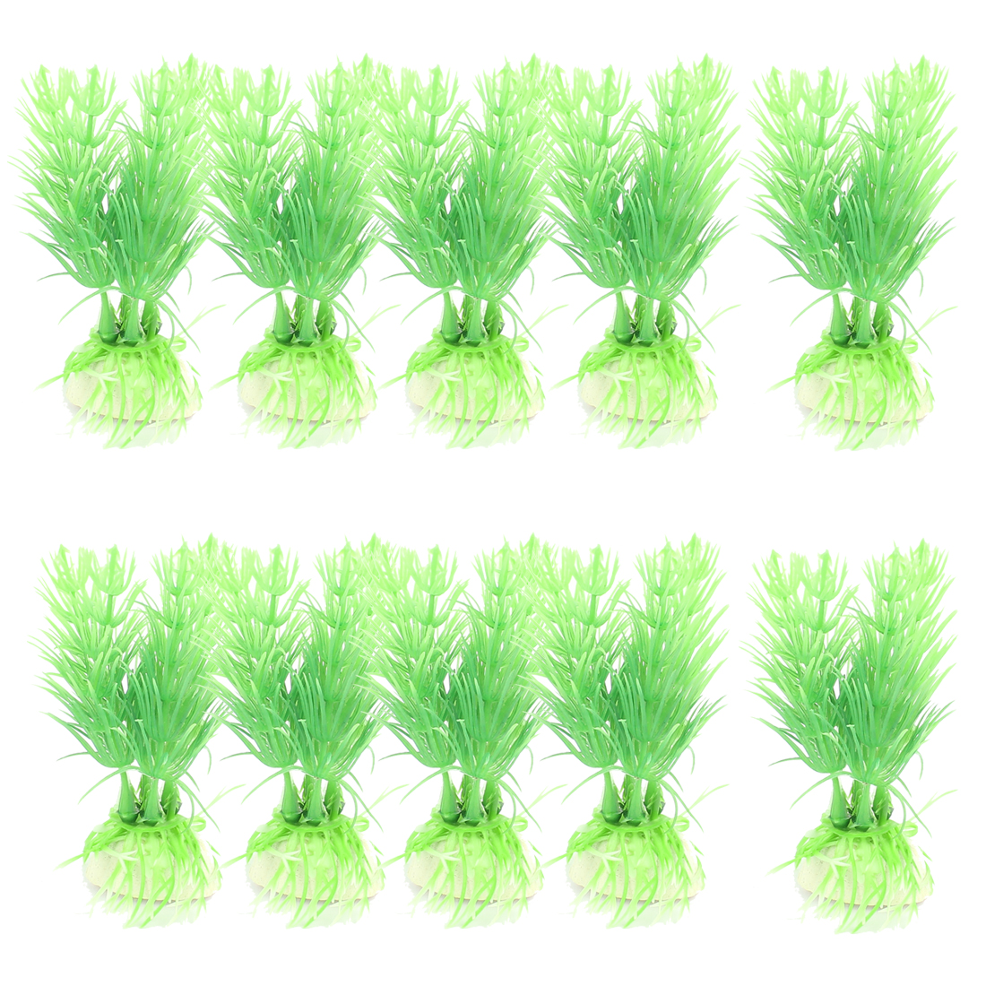 Underwater Artificial Landscaping Aquarium Plants Decor Green 10Pcs