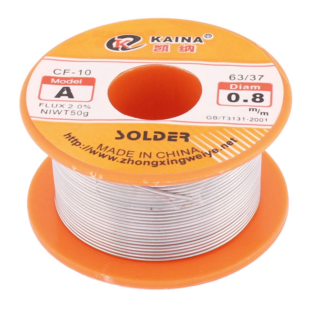 0.8mm 63/37 Tin/Lead Flux 2.0% Rosin Core Roll Solder Wire Reel
