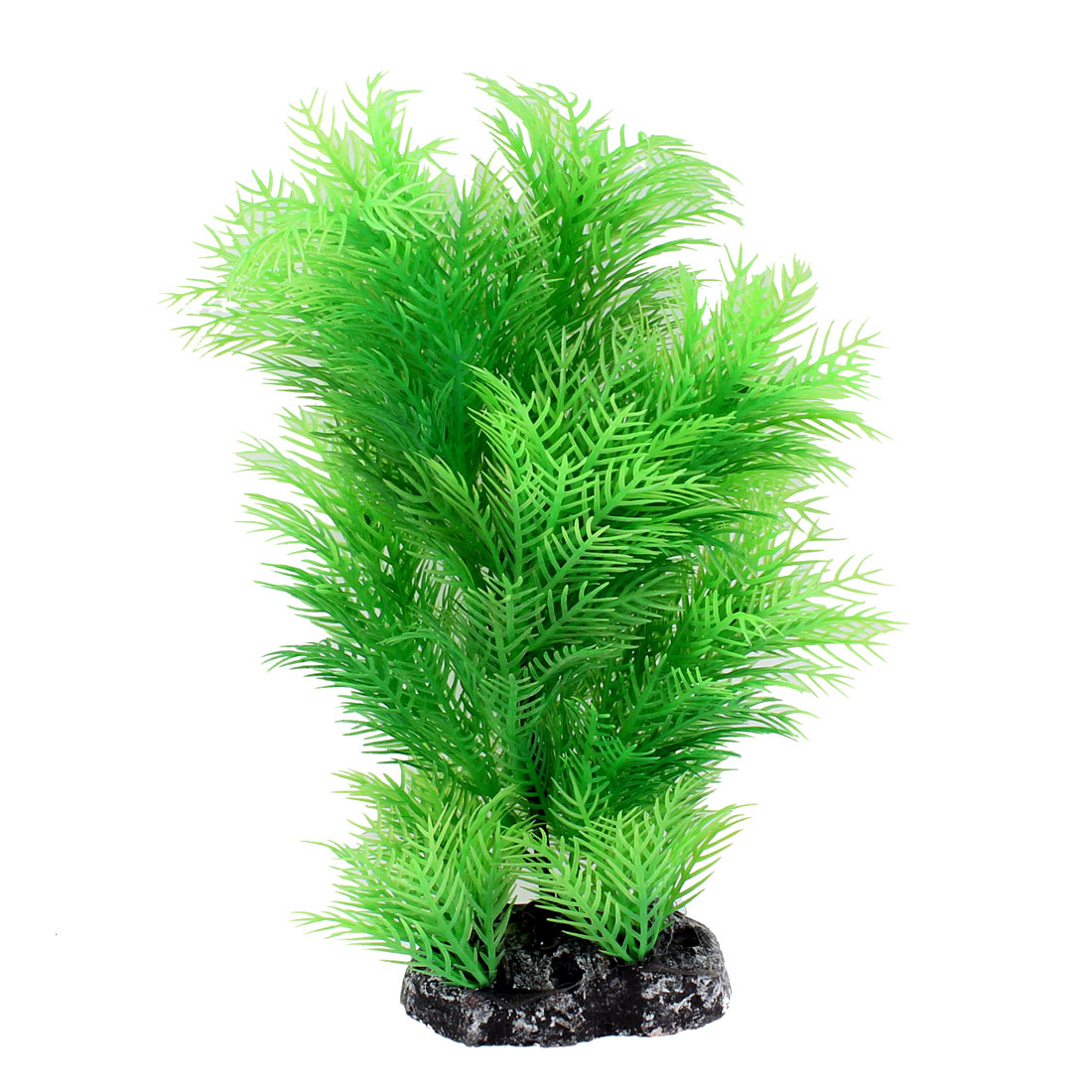 "Aquarium Plastic Underwater Grass Ornament Manmade Plant Decor Green 9"" Height"