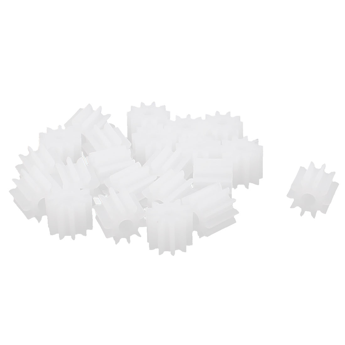 20 Pcs 5.5mmx2mm 10 Teeth Plastic Thick Motor Spindle Spur Gear for DIY Robbot