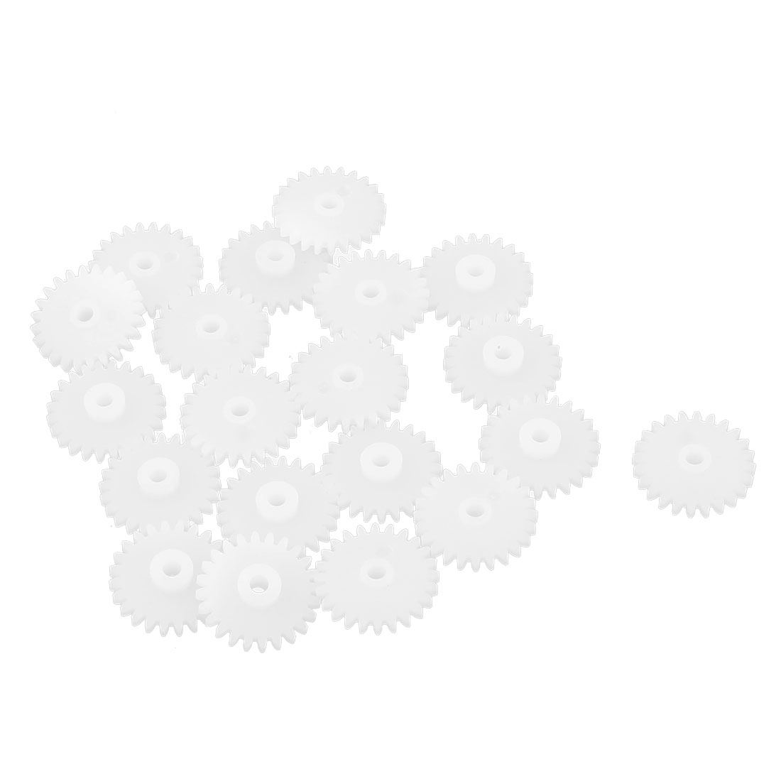 20Pcs 24 Teeth 0.5 Modulus Plastic Single Reduction Motor Gear for RC Airplane