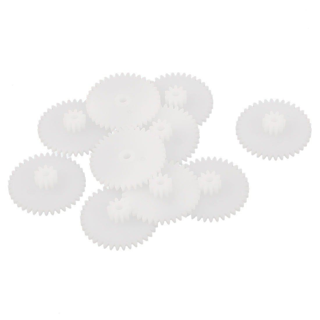 10PCS Double Deck 38102B Model White Plastic Gear for RC Toys