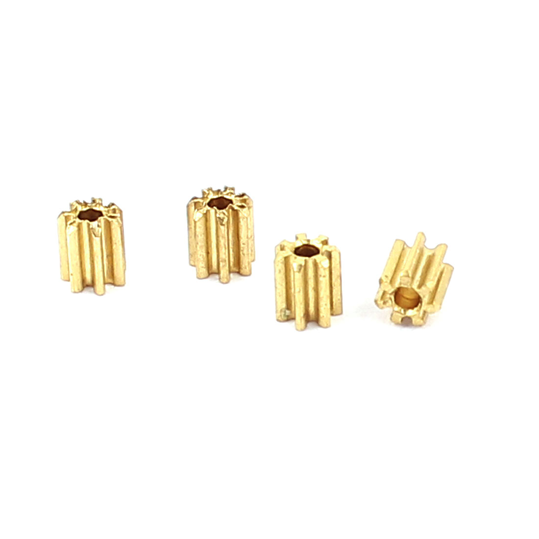 5 Pcs 2.5mmx1mm 7 Teeth Brass Thick Motor Spindle Spur Gear for DIY Robbot