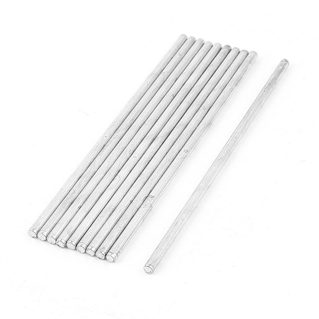 10 Pcs 2mmx100mm Metal Solid Round Rod Bar for DIY RC Model Car