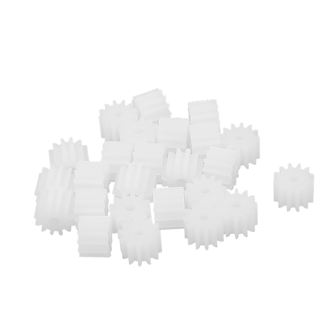 20 Pcs 6.6mmx2mm 12 Teeth Plastic Thick Motor Spindle Spur Gear for DIY Robbot