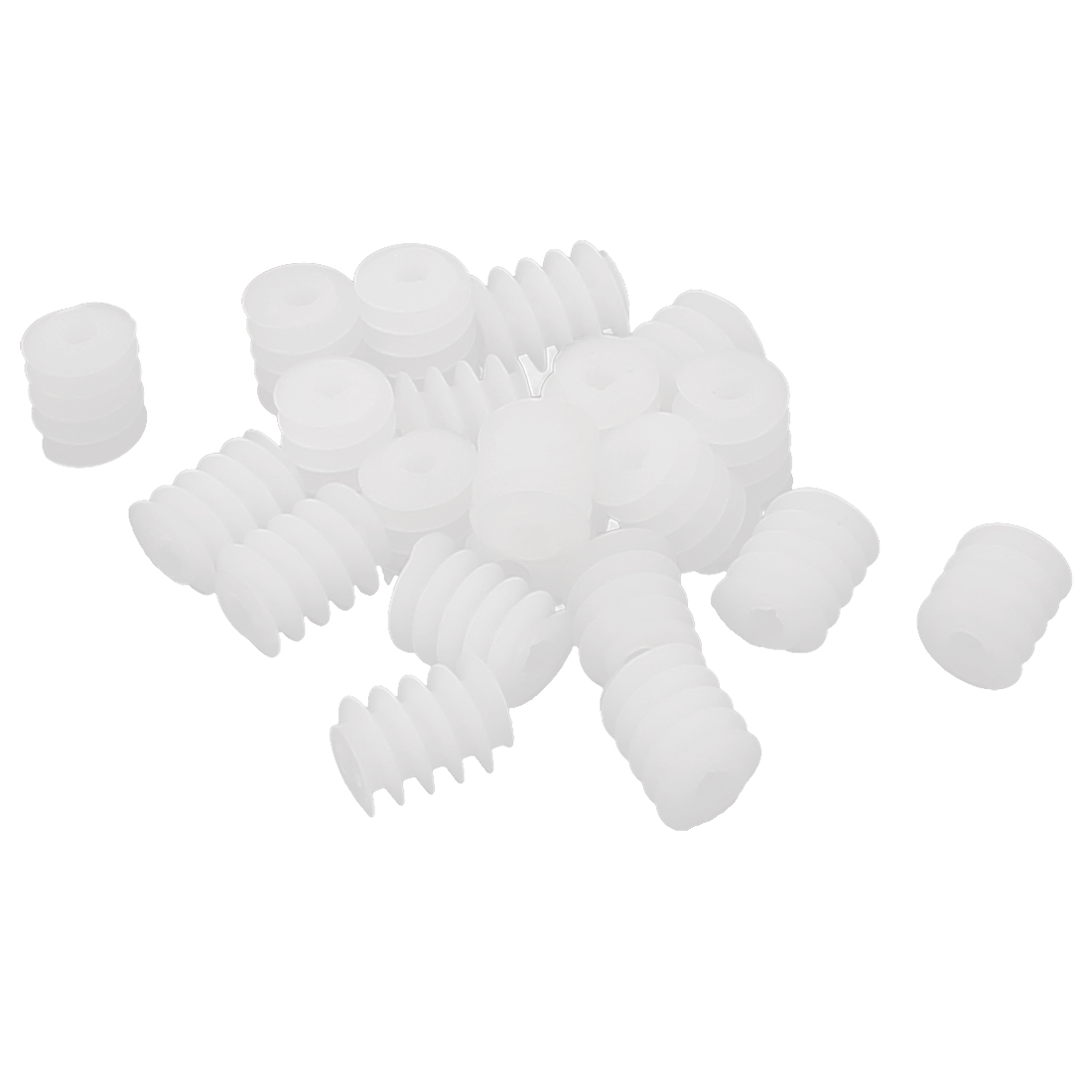 20 Pcs 2mm Hole 6mmx8mm Plastic Worm Gear for DIY Toy Motor Reduction Box