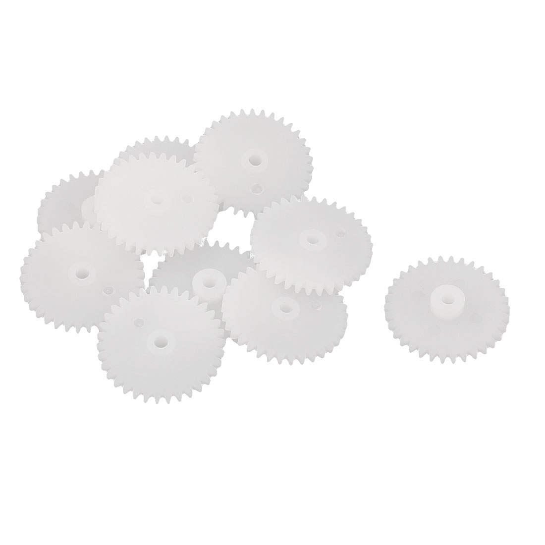 10Pcs 34 Teeth 0.5 Modulus Plastic Single Reduction Motor Gear for RC Airplane