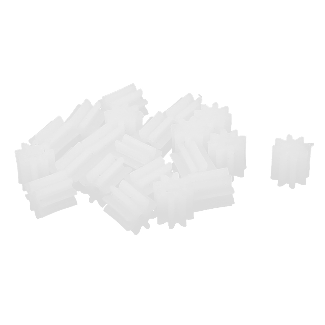20 Pcs 4.5mmx0.9mm 8 Teeth Plastic Thick Motor Spindle Spur Gear for DIY Robbot
