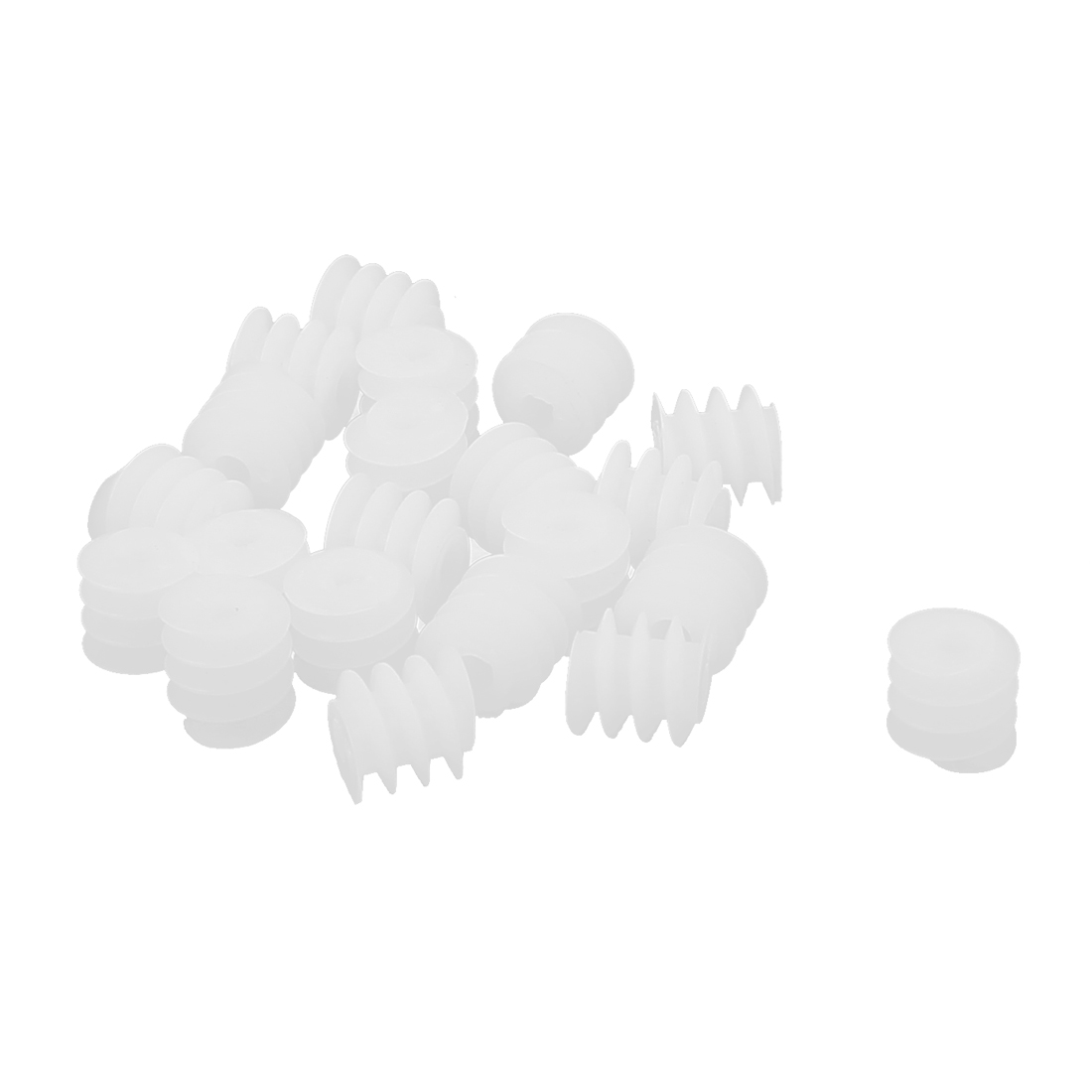 20 Pcs 2mm Hole 6mmx6mm Plastic Worm Gear for DIY Toy Motor Reduction Box