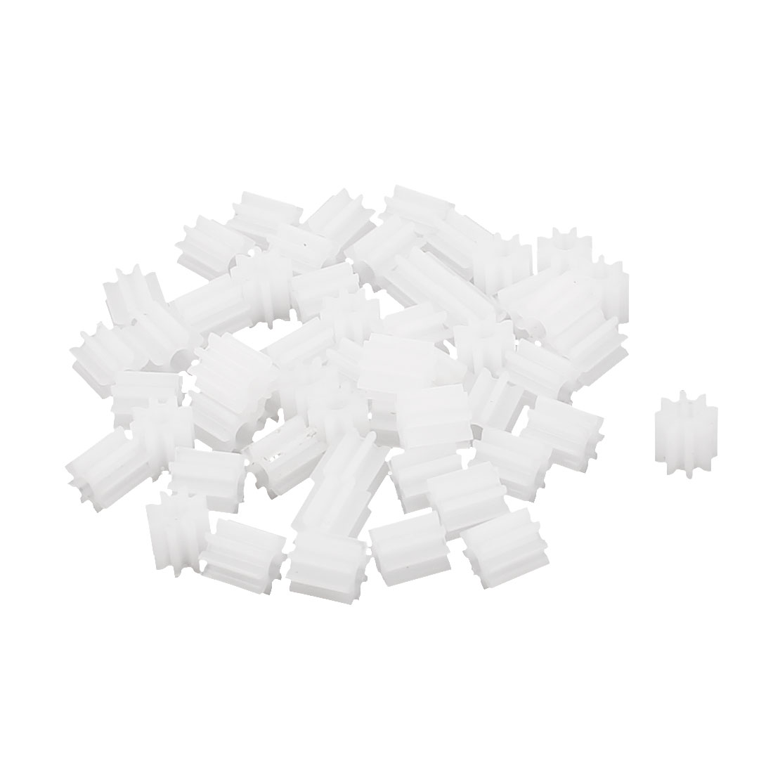 50 Pcs 4.5mmx2mm 8 Teeth Plastic Thick Motor Spindle Spur Gear for DIY Robbot