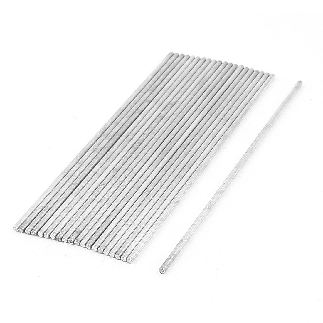 20 Pcs 2.5mmx135mm Metal Solid Round Rod Bar for DIY RC Model Car