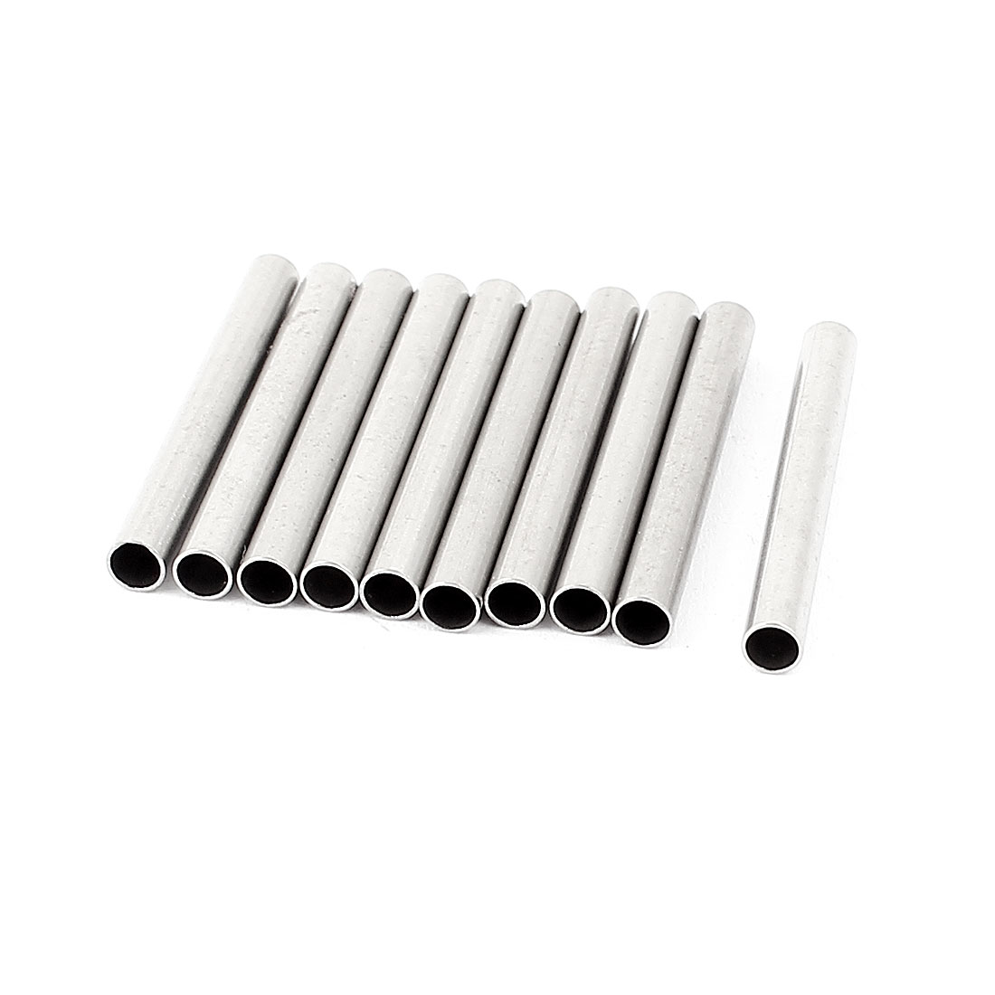 10 Pcs 3mmx26.7mm Metal Solid Hollow Round Rod Bar for DIY RC Model Car