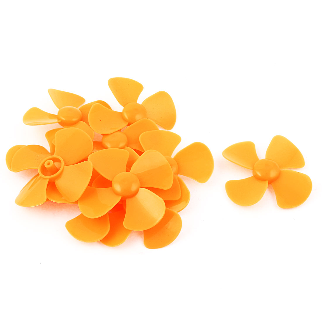 10PCS Fan Style Brushless Motor 4 Vanes RC Boat Airplane Propeller Yellow