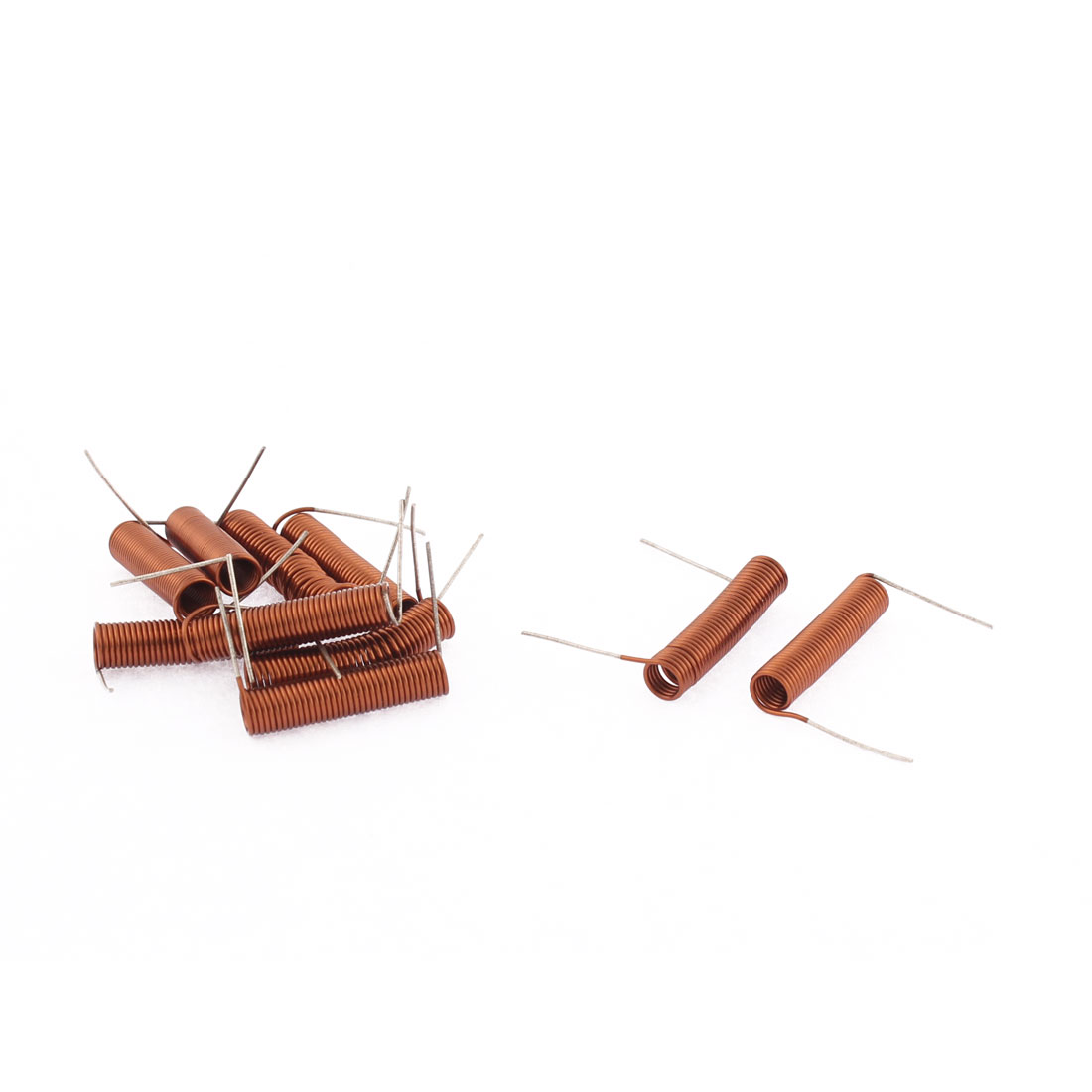 10Pcs 35.5T 3mm Inner Dia 0.5mm Wire Spring Coil Radio FM Air Core Inductors