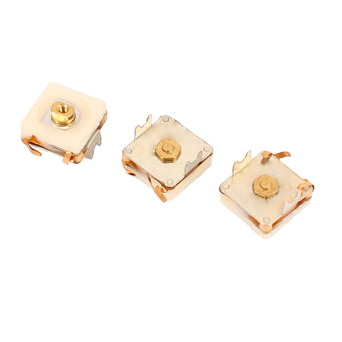 3pcs PVC-206 206pF Medium Variodencer PCB Trimmer Tuning Variable Adjustable Capacitors for Radio