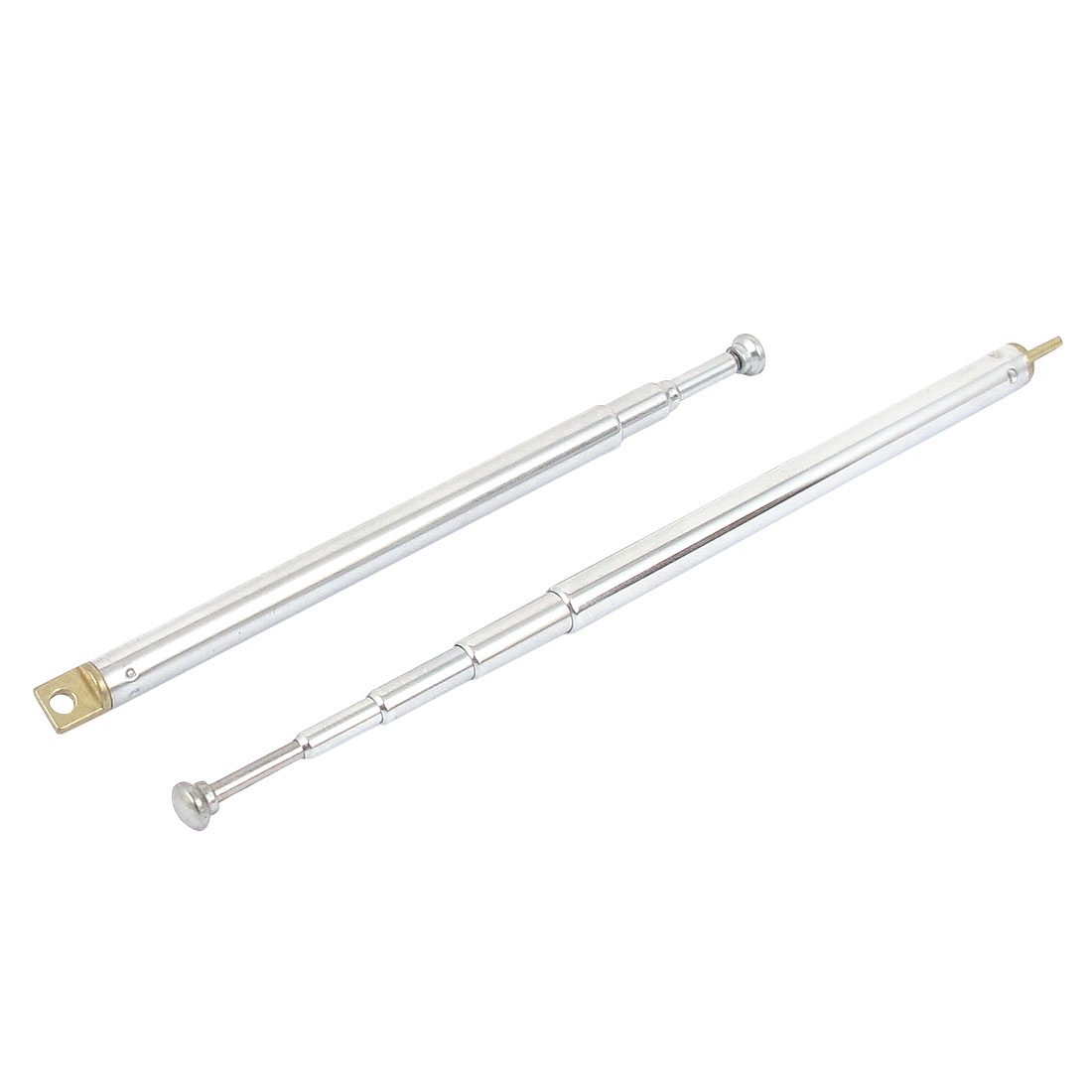 2pcs Metal Rod 5 Sections Telescopic Antenna Aerial Mast for AM FM Radio Controller