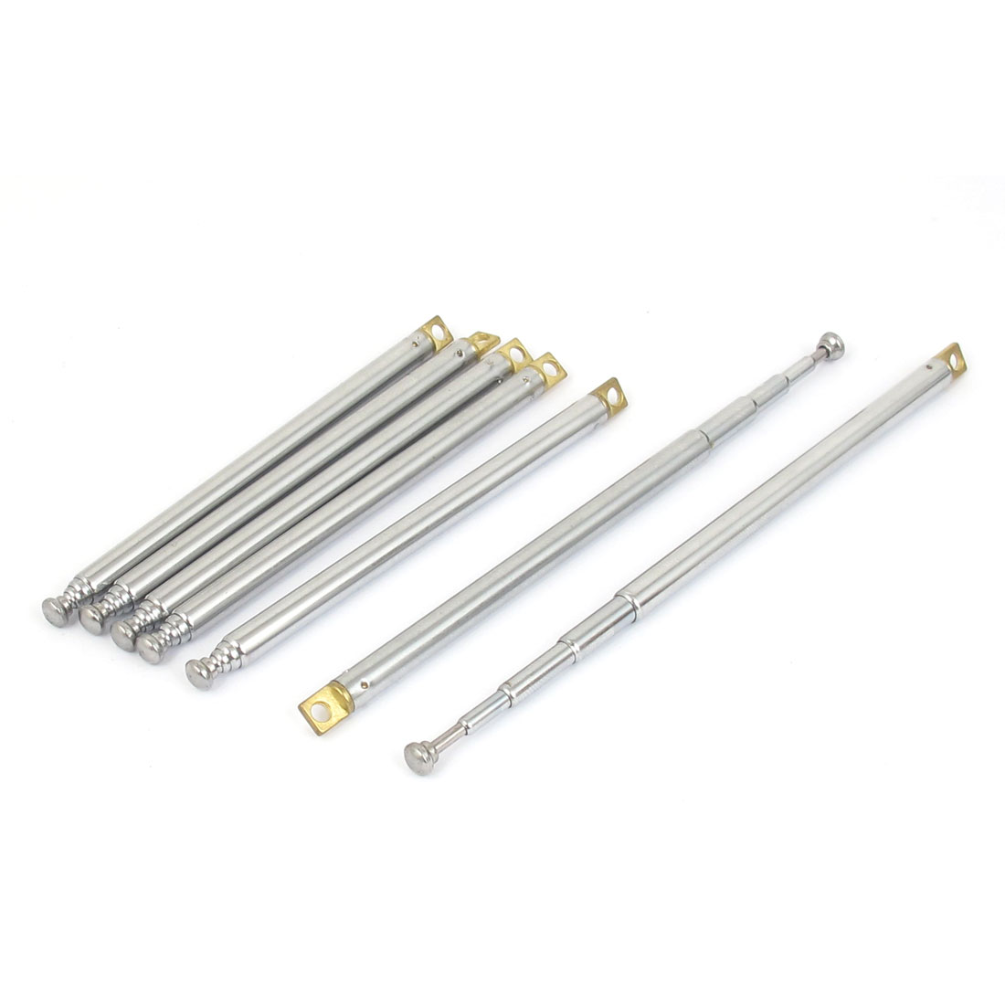 "7pcs 310mm 12"" Long Metal Rod 5 Sections Telescopic Antenna Aerial for FM Radio TV Control"
